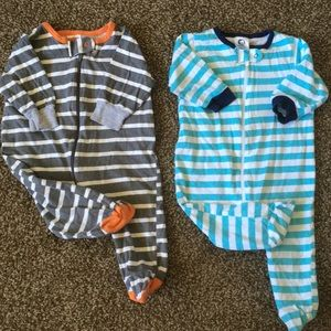 Sleep and play footies